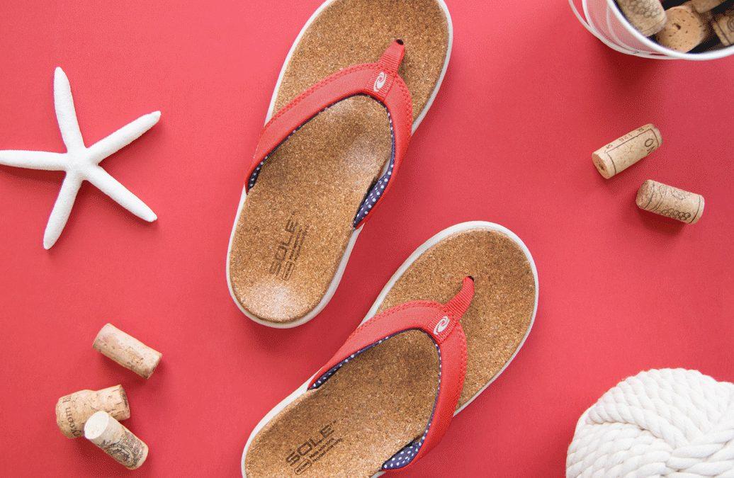 Slippers oorzaak hielspoor – SOLE teenslippers zijn anders